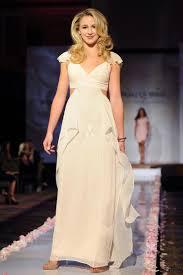 pretty ruffled ivory chiffon celebrity evening prom dress chloe