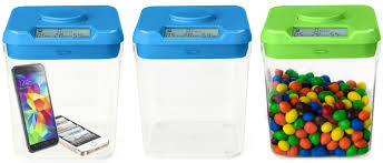 Clear Kitchen Canisters by Ksafe By Kitchen Safe The Time Lock Safe