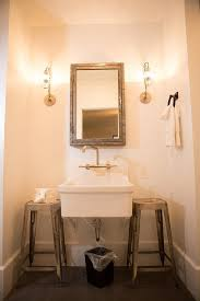 Bathroom Sconces Restoration Hardware Bathroom Brass Cage Wall Sconces Design Ideas