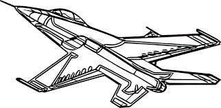 instructive coloring picture of airplane page simple drawing free