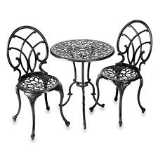 Wrought Iron Bistro Table And Chairs Innovative Wrought Iron Bistro Table With Wrought Iron 3 Piece
