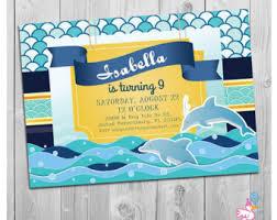 dolphin invitations etsy