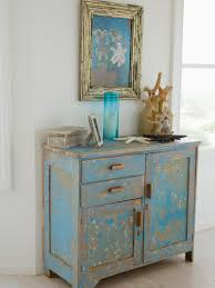 Your House Furniture Blue Distressed Furniture Dresser Decorated With Coastal