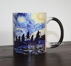 lord of the rings mug starry night mug color changing mug