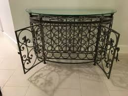 metal wine rack table glass top metal wine rack negotiable 75 brickell