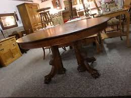 Oval Pedestal Dining Room Table Antique Oak Oval Dining Room Table With Claw
