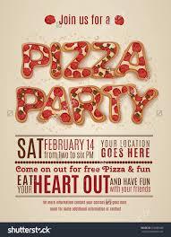 invitation flyer templates free pizza party invitation template free templates desi on potluck