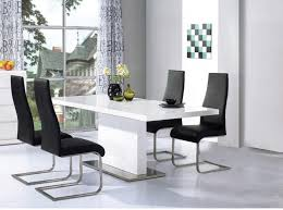 Gloss Dining Tables White Gloss Dining Table And Chairs Marceladick