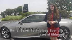 lexus of richmond parts tech tip 2018 lc 500 keyless entry demo youtube