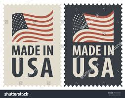 American Flag Words Set Two Postage Stamps Words Made Stock Vector 774038368