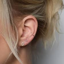 conch piercing cuff silver ear cuff handmade earrings ear cuffs muka studio