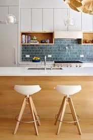 hexagon tile kitchen backsplash 9 inspirational kitchens with geometric tiles contemporist
