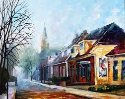 Russian Home Decor House U2014 Palette Knife Oil Painting On Canvas By Leonid Afremov