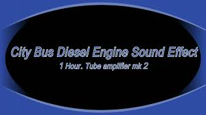 city bus diesel engine sound 1 hour youtube