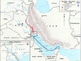 World Map Iran by Map Of The Iran Iraq War 1980 1988