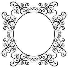 free illustration ornamental frame design free image on