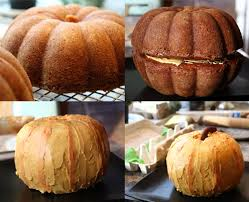 two bundt cakes stacked on top of each other pumpkin cake alli