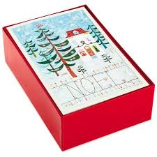 boxed cards noel value christmas cards box of 40 boxed cards hallmark