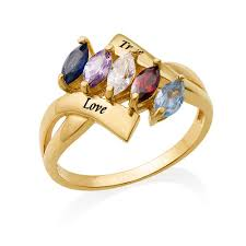 birthstone rings for birthstone ring for with gold plating mynamenecklace