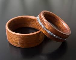 wooden wedding ring sets wood engagement ring etsy