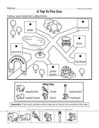 bunch ideas of map skills for kindergarten worksheets with cover