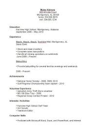 exles of resumes for high school students sle resume for a highschool student high school 22 exles