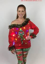 ugly christmas sweater with lights women s clothes women s ugly sweater light up christmas tree tacky
