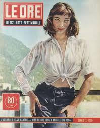 le martinelli elsa martinelli le ore magazine 02 july 1955 cover photo italy