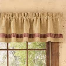 Country Plaid Curtains Curtains Burlap Window Valance Plaid Curtains Burlap Valance
