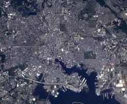 Bird View Map Astronaut Shares Bird U0027s Eye View Of Downtown Baltimore