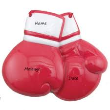 buy boxing gloves ornament personalized ornament from