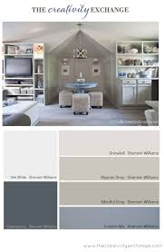 modern living room with best color of grey with sofa and