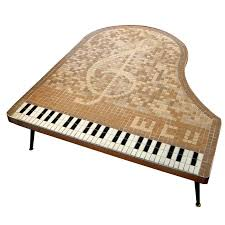 piano shaped tiled coffee table at 1stdibs