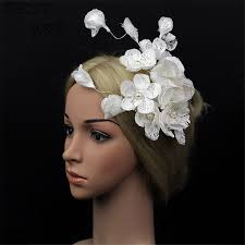 lace fascinator high quality mini hat white lace fascinator flower hair clip