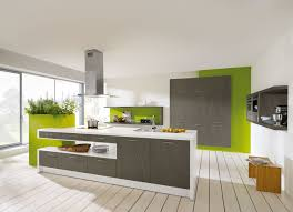 kitchen green wall kitchen decor with grey cabinets and