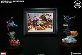 marvel spider man vs green goblin premium art print by sides