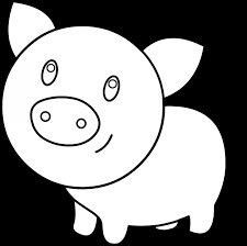 picture of a pig to color animal peppa coloring page aksfm