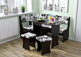 l shaped dining table fiji kitchen nook dining table set l shaped storage bench amazon ca