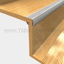 aluminum fluted stair nosing to protect stair edge and create safe