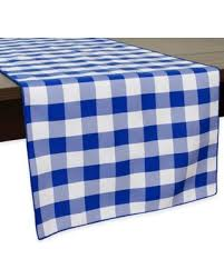 54 inch table runner get the deal gingham poly check 54 inch table runner in royal white