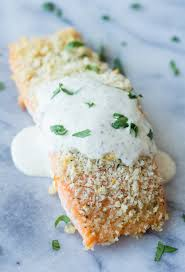 dill mustard salmon with a dill mustard sauce that oven feelin