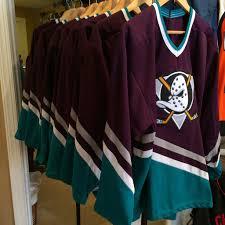 Mighty Ducks Flag Jersey Rare Vntg