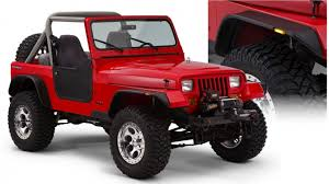 2011 jeep wrangler fender flares bushwacker flat style fender flares 1987 1995 jeep wrangler