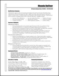 Best Skills For Resume by Exciting Administrative Assistant Summary For Resume With Resume