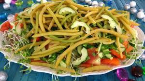 cuisiner haricots beurre salade haricots beurre du jardin recette entrées froides