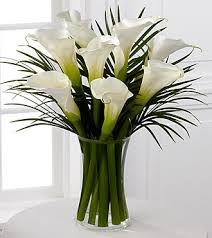 cala lillies endless elegance calla bouquet white