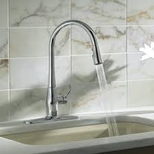 kitchen sink with faucet kohler simplice kitchen sink faucet with 16 5 8 pull spout