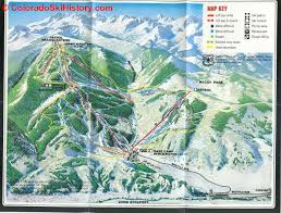 Vail Colorado Map by The History Of Beaver Creek Resort