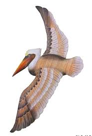 amazon com nautical coastal flying pelican wooden wall decor