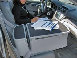 Auto Office Desk Great Universal Car Desk Equipped With A Laptop And Printer To